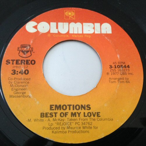 Emotions - Best Of My Love / A Feeling Is