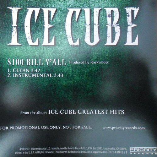 ICE CUBE - $100 Bill Y'all - CD single