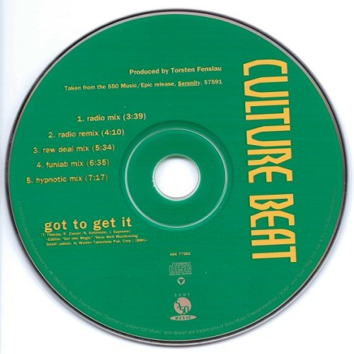 CULTURE BEAT - Got To Get It - CD single