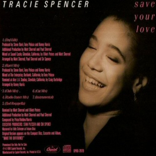 TRACIE SPENCER - Save Your Love - CD single