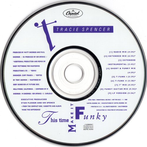 TRACIE SPENCER - This Time Make It Funky - CD single