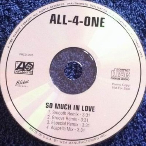 ALL-4-ONE - So Much In Love - CD single