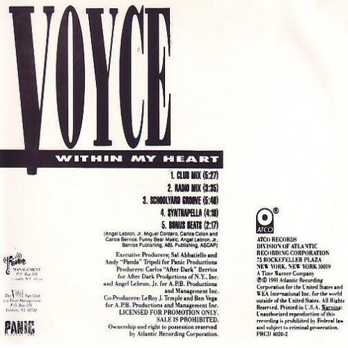 VOYCE - Within My Heart - CD single
