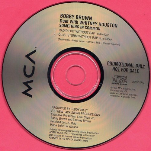 BOBBY BROWN (DUET WITH WHITNEY HOUSTON) - Something In Common - CD single