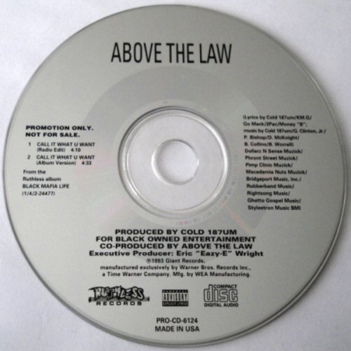 ABOVE THE LAW - Call It What U Want - CD single